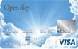 open sky secured visa card